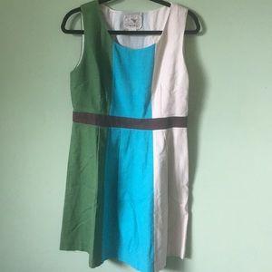 Tabitha dress  nwot size 12, blue,green &cream